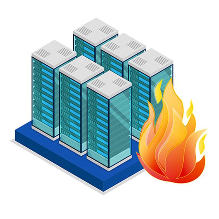 Wir installieren auch Brandfrühesterkennungsanlagen.