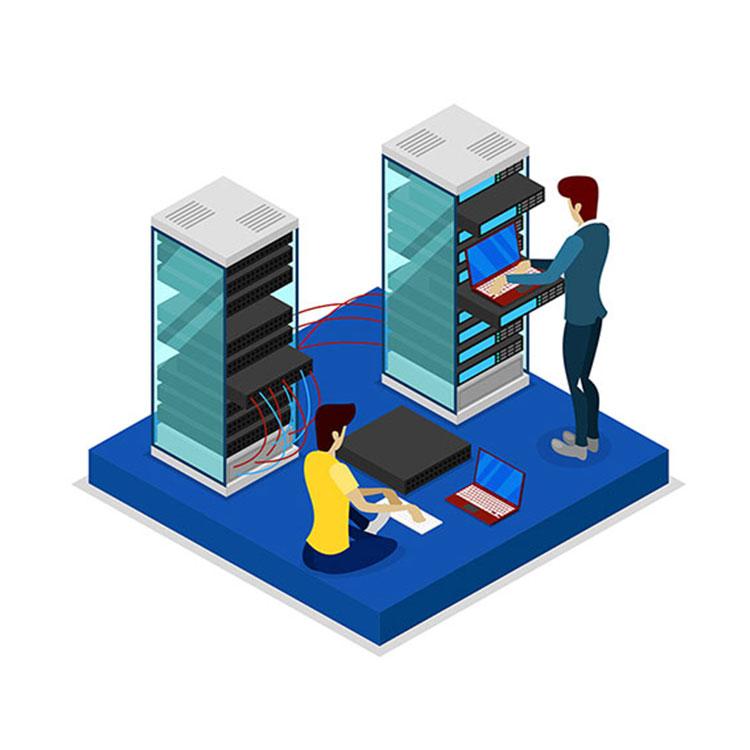 IT-Verkabelung vom Serverraum bis zu den einzelnen Arbeitsplätzen